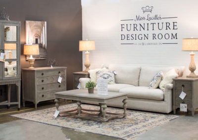 Miss Lucille's Furniture Design Room and couches and rugs in clarksville tn